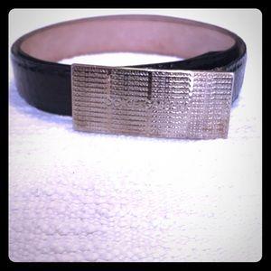Dolce & Gabbana Black Snake Skin Belt